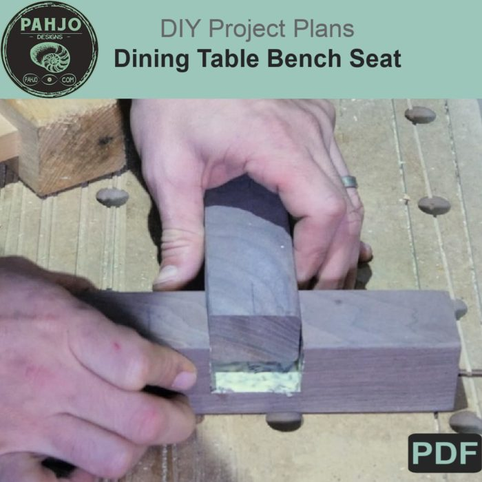 DIY Dining Table Bench Plans PDF