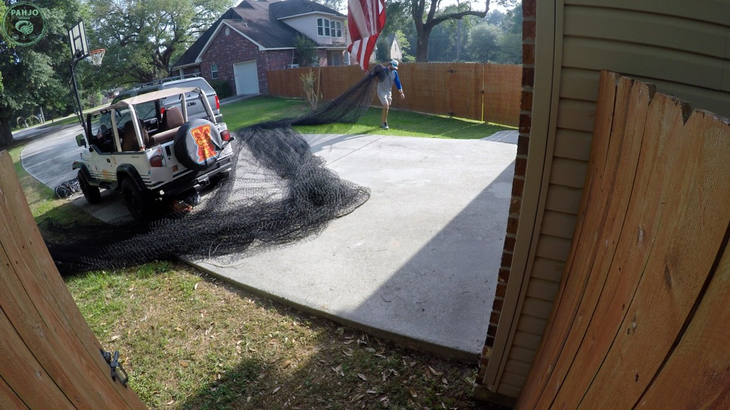 hang batting cage net