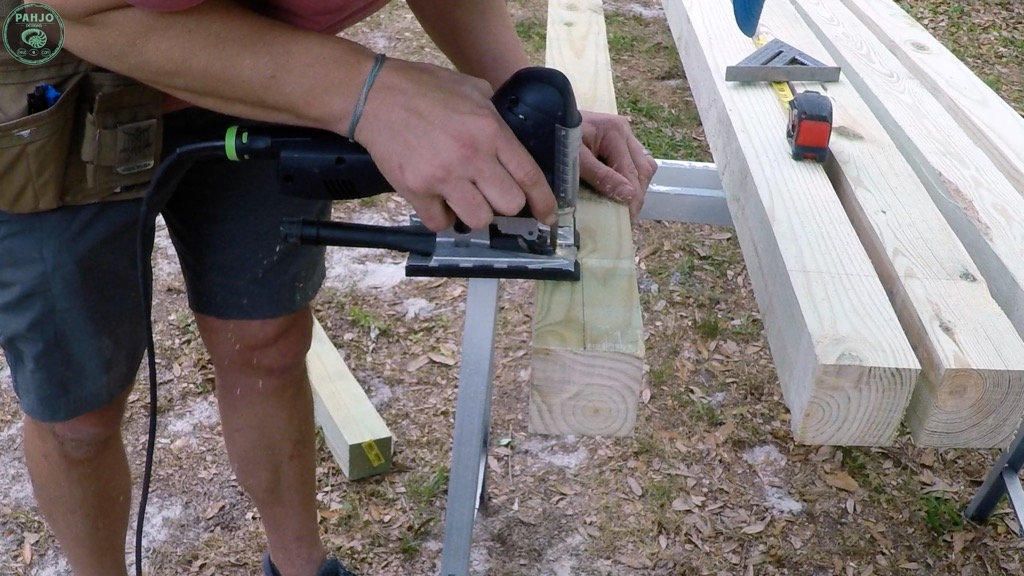 cut half lap joint with jigsaw