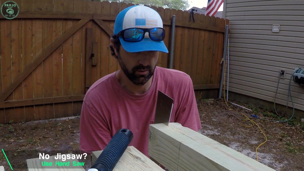 half lap joint with hand saw