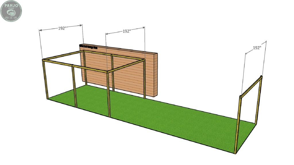 DIY batting cage frame cross boards