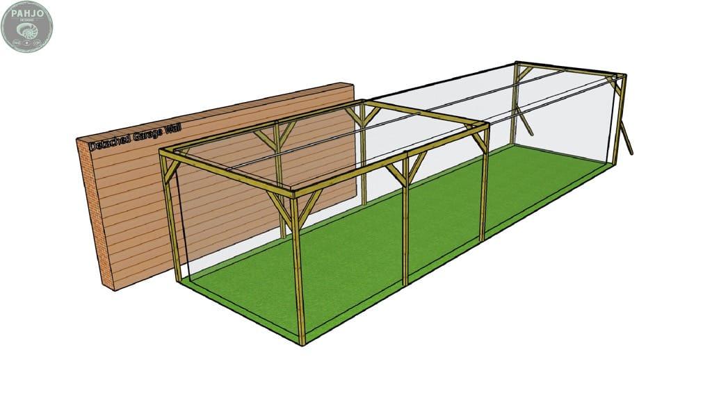 DIY Batting Cage Frame