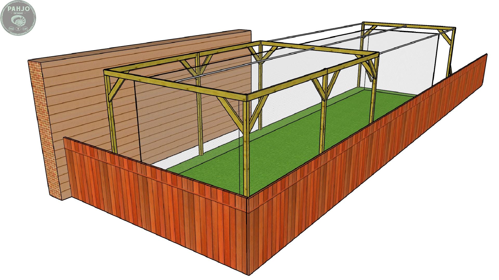 DIY Batting Cage in Backyard
