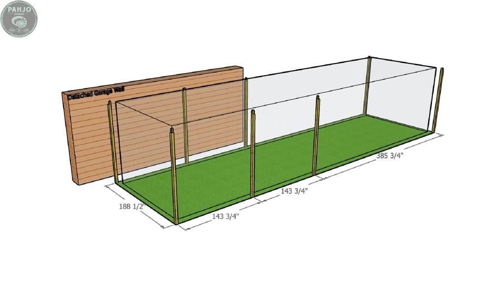 DIY Batting Cage Frame Dimensions