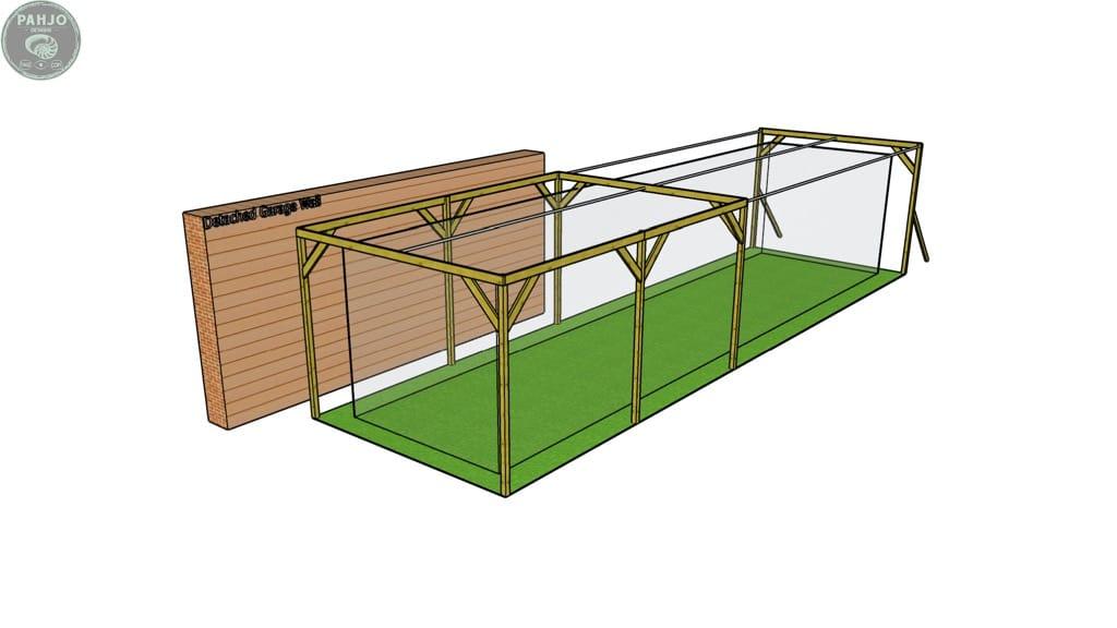 diy batting cage with sag