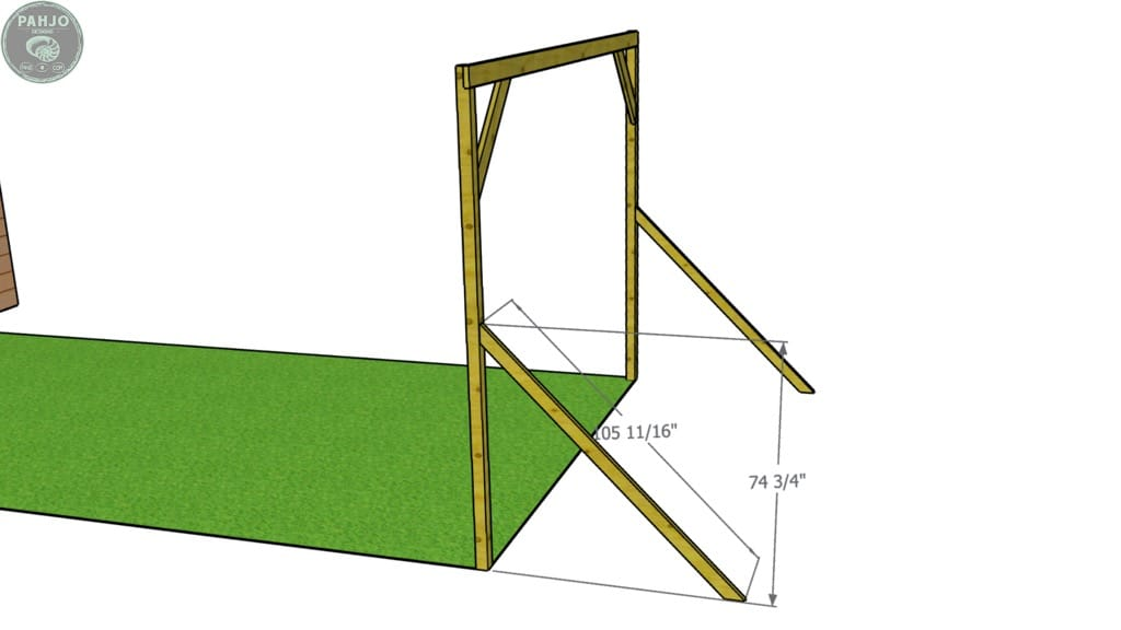 batting cage frame rear supports