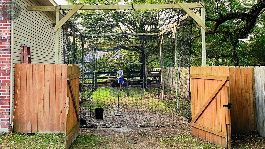 DIY backyard batting cage