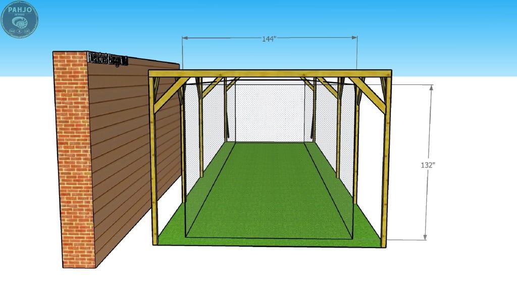DIY batting cage net sag